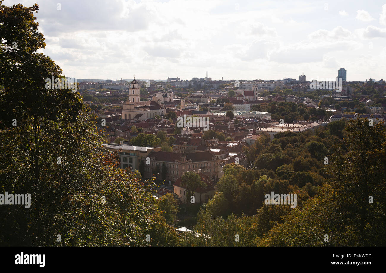 Aerial view of Berlin rooftops - Stock Image