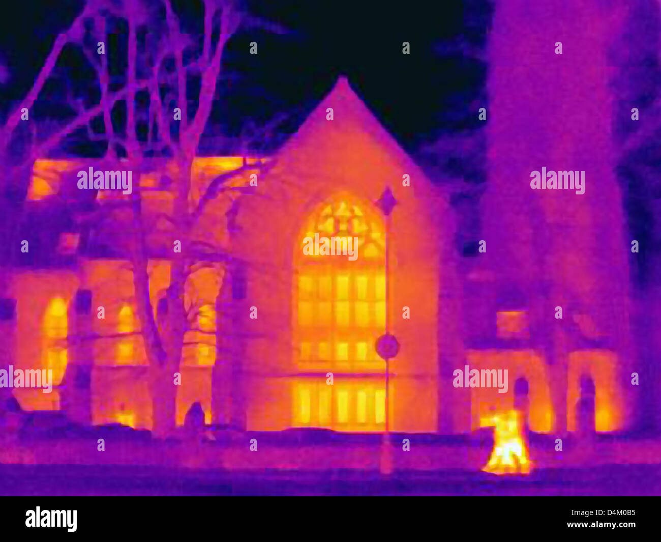 Thermal image of cathedral - Stock Image