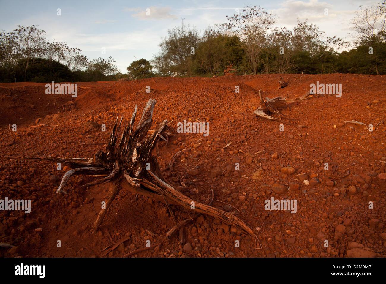 Desert landscape in Sarigua national park, Herrera province, Republic of Panama. Stock Photo