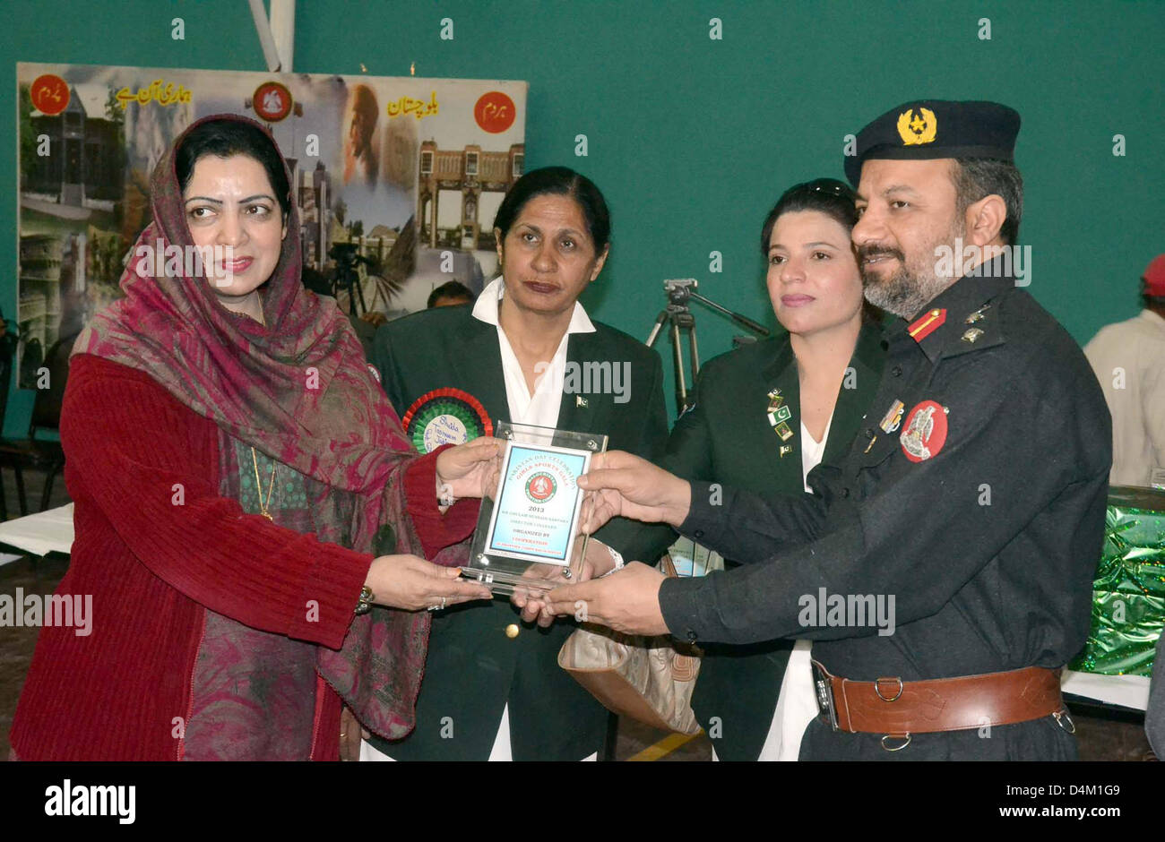 Ghazaband Scouts leader, Colonel Maqbool Shah presents