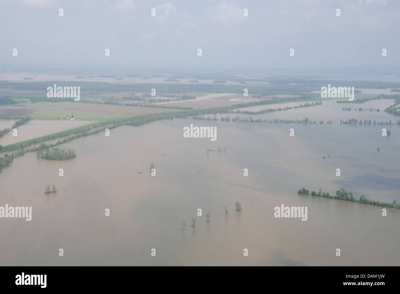 Flooding near Cairo, Ill., and Bird's Point, Mo. Stock Photo