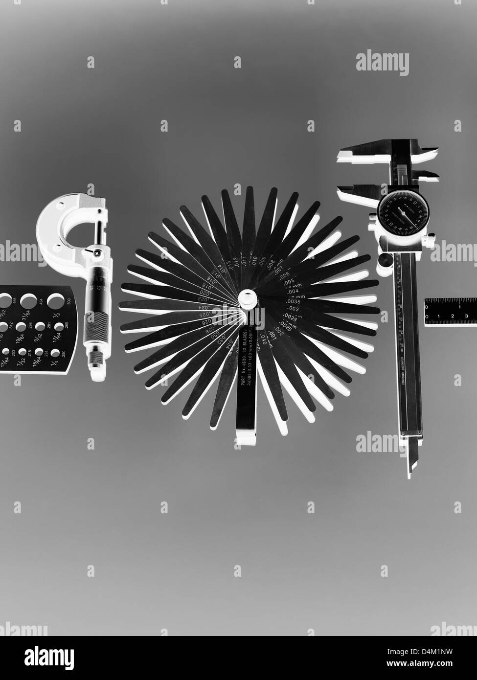 Engineering measurement tools used in Industry - Stock Image