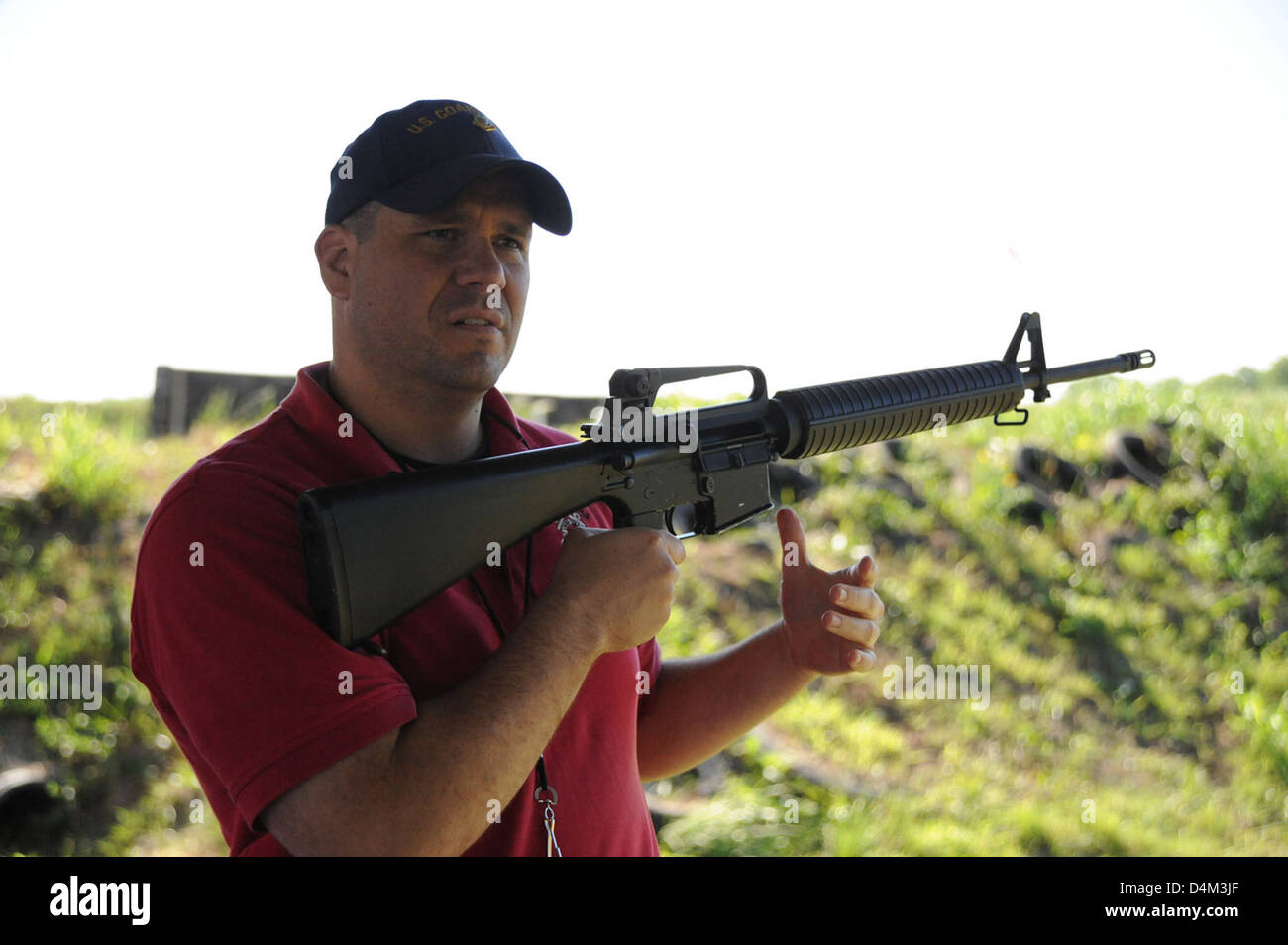 Small Arms and Rifle Training Stock Photo