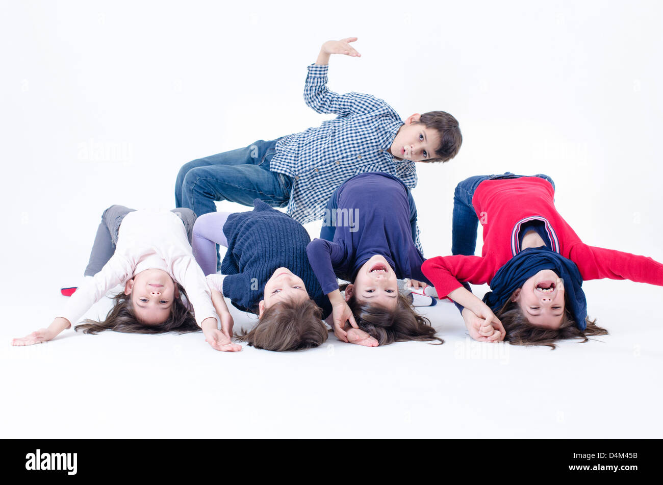 Five brothers from a large family - Stock Image