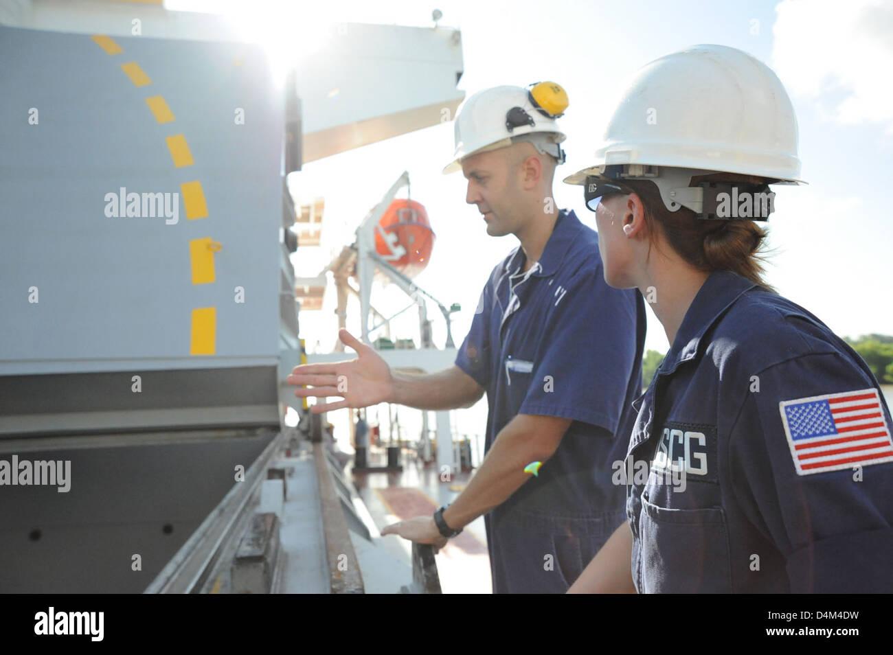 PSC inspection of motor vessel Union Anton Stock Photo