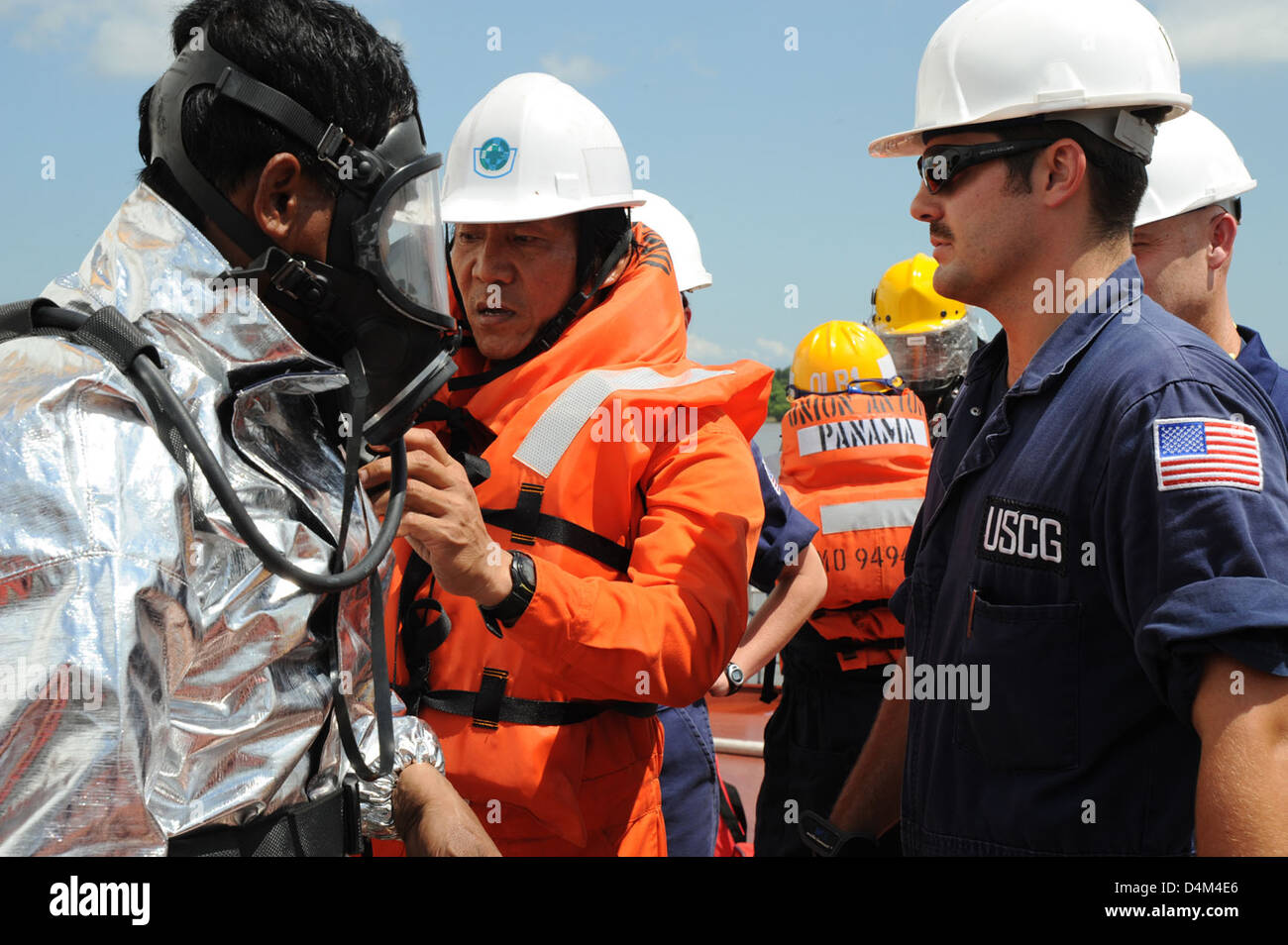 PSC inspection of motor vessel Union Anton Stock Photo