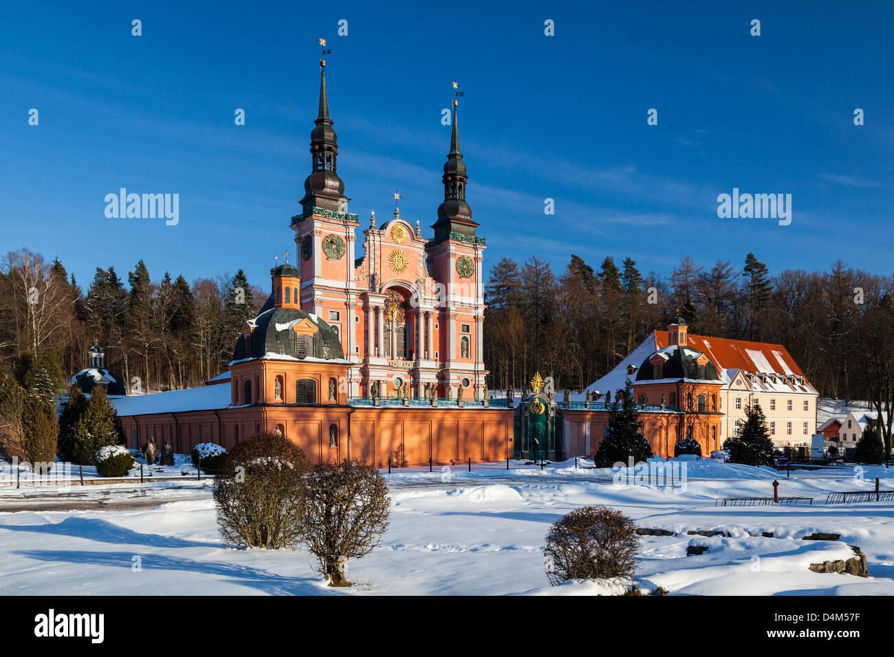 Swieta Lipka (Holy Lime), baroque Pilgrimage Church, Masuria region Poland - Stock Image