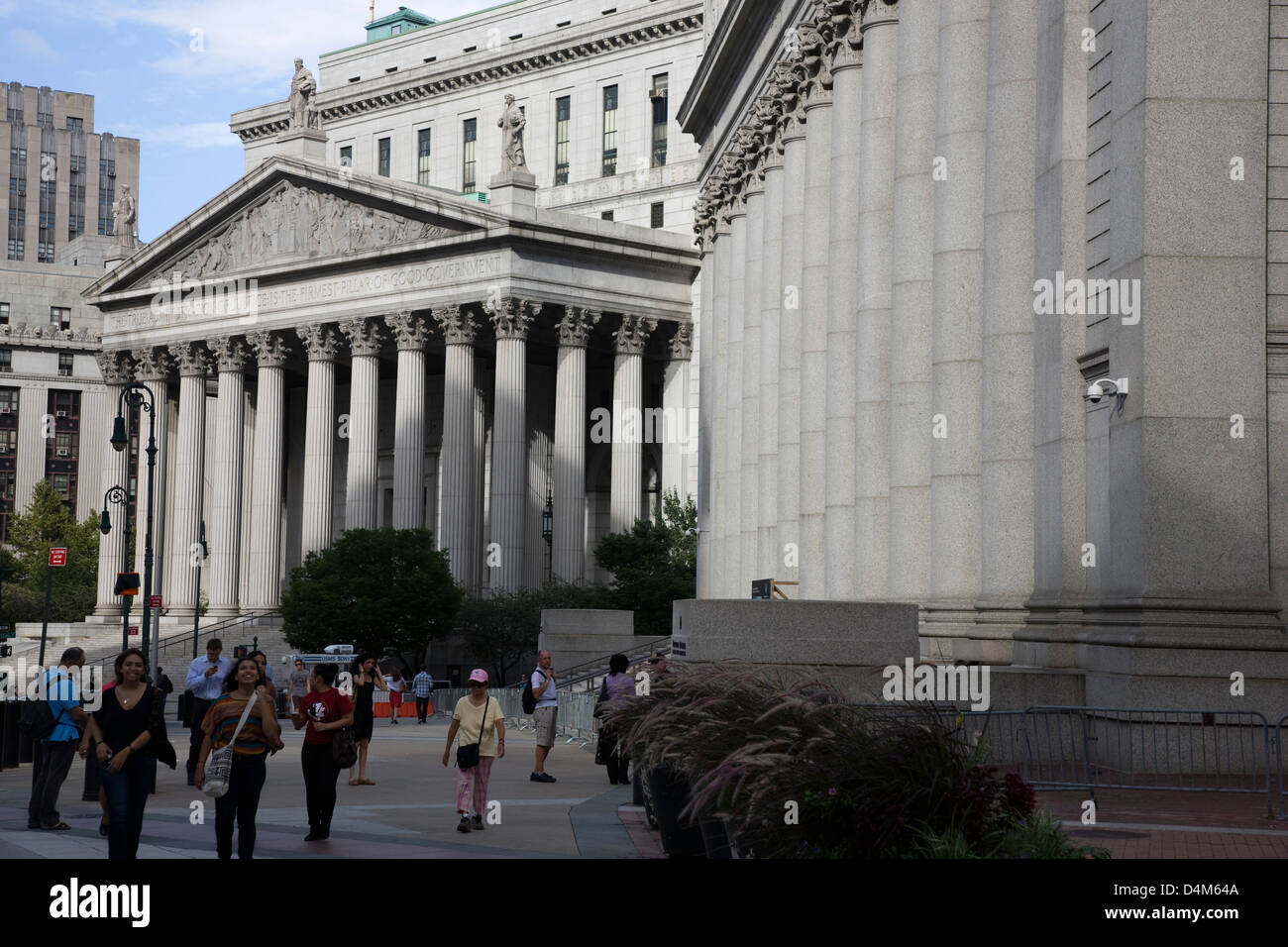 The Thurgood Marshall United States Courthouse at 40 Centre Street on Foley Square, New York - Stock Image