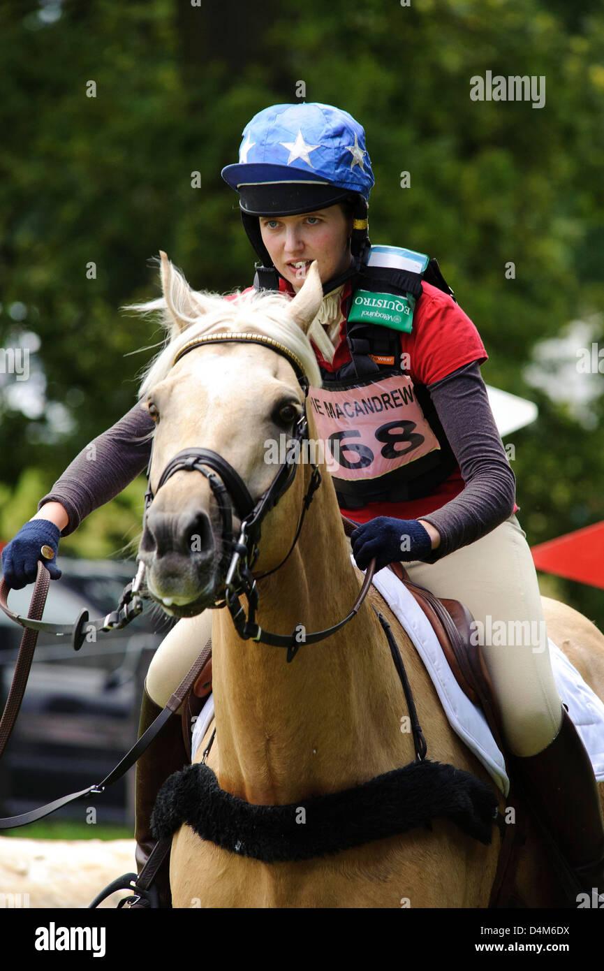 Cross Country actionGillespie Macandrew Hopetoun House Horse Trials - Stock Image