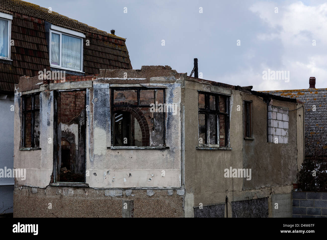 Dilapidated and Run Down Housing in Jaywick, Essex - Stock Image