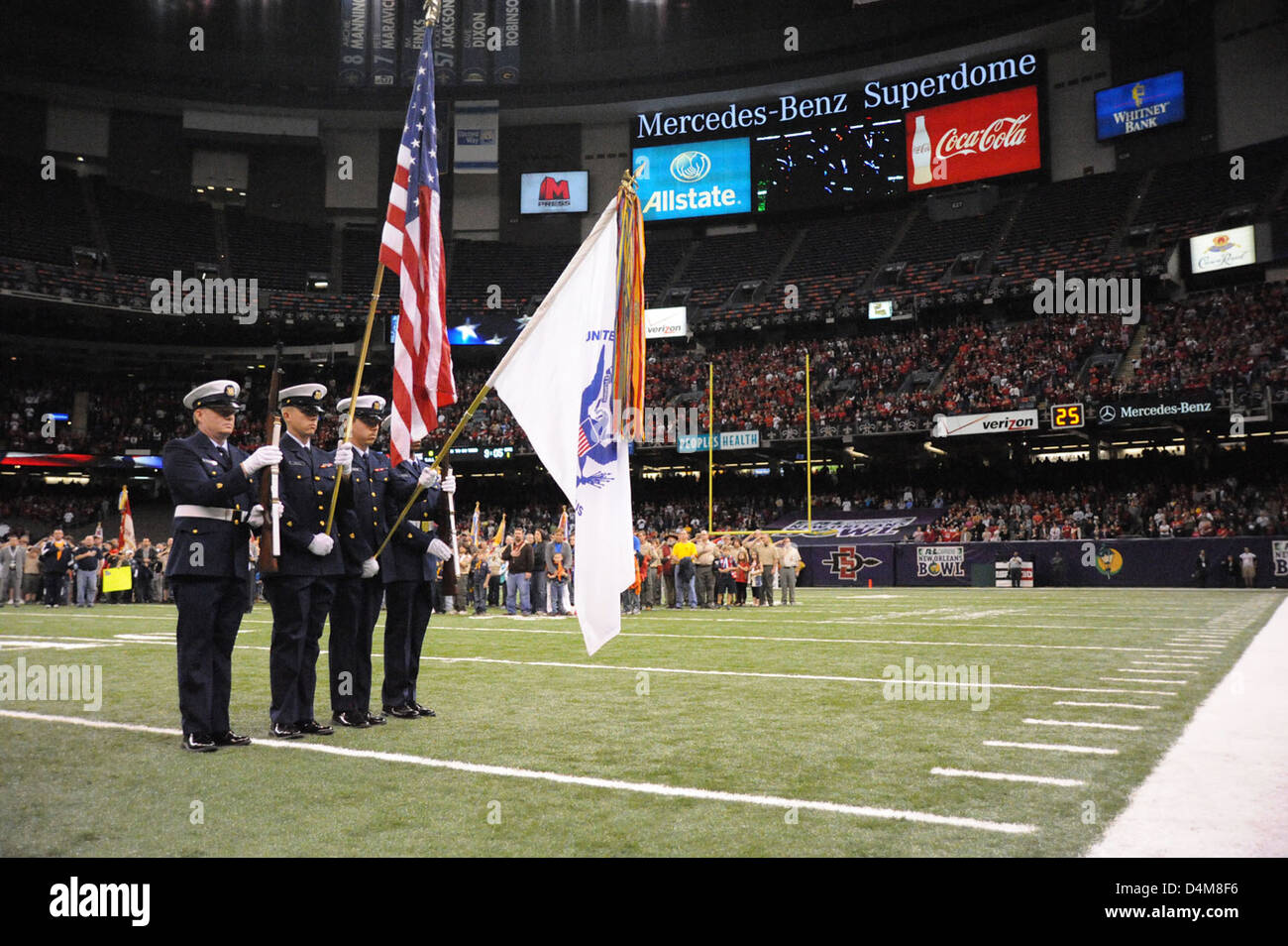 Color Guard R & L Carriers New Orleans Bowl Stock Photo
