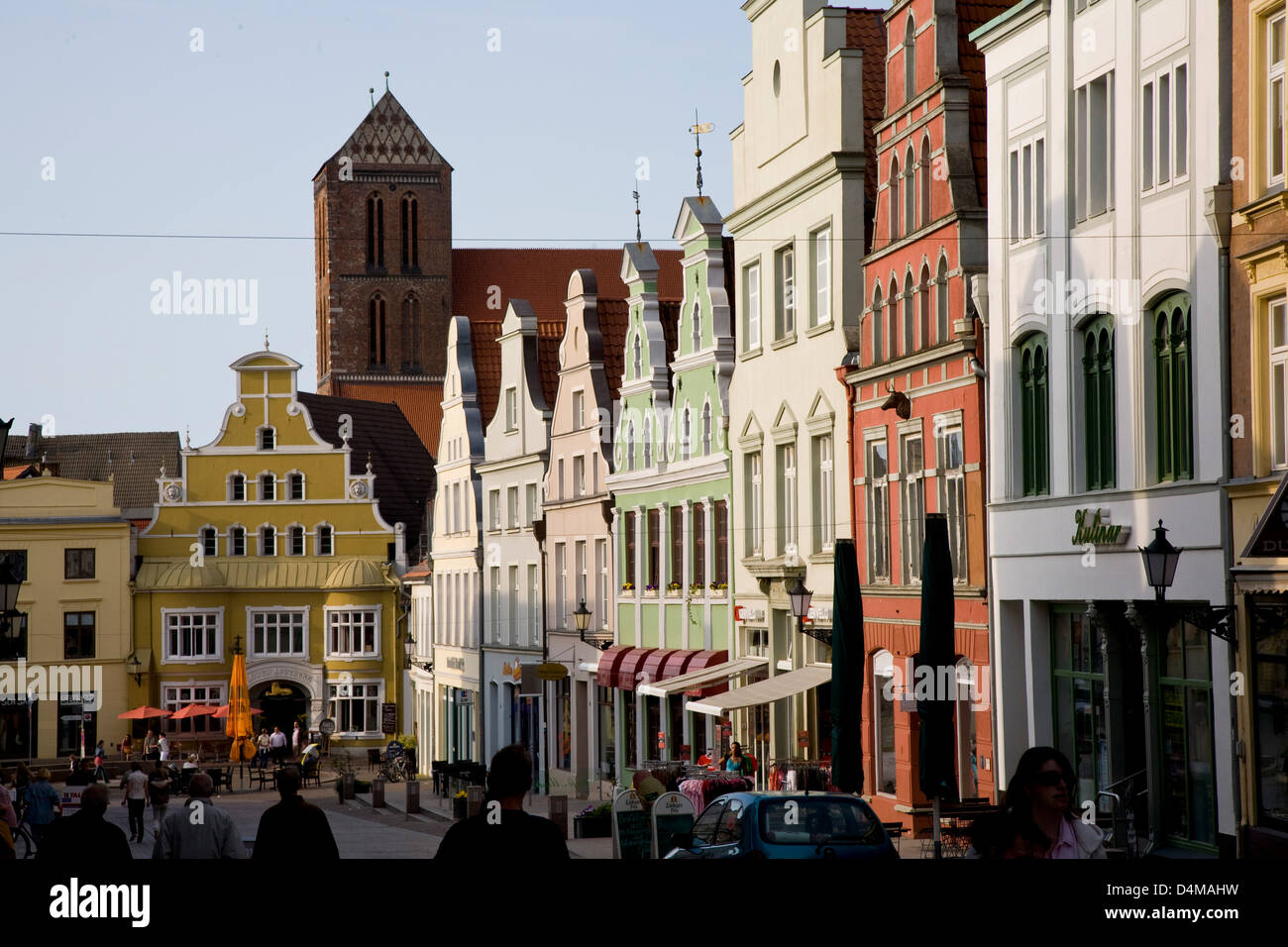 Wismar, Germany, the Kraemer Street in the historic town of Wismar Stock Photo