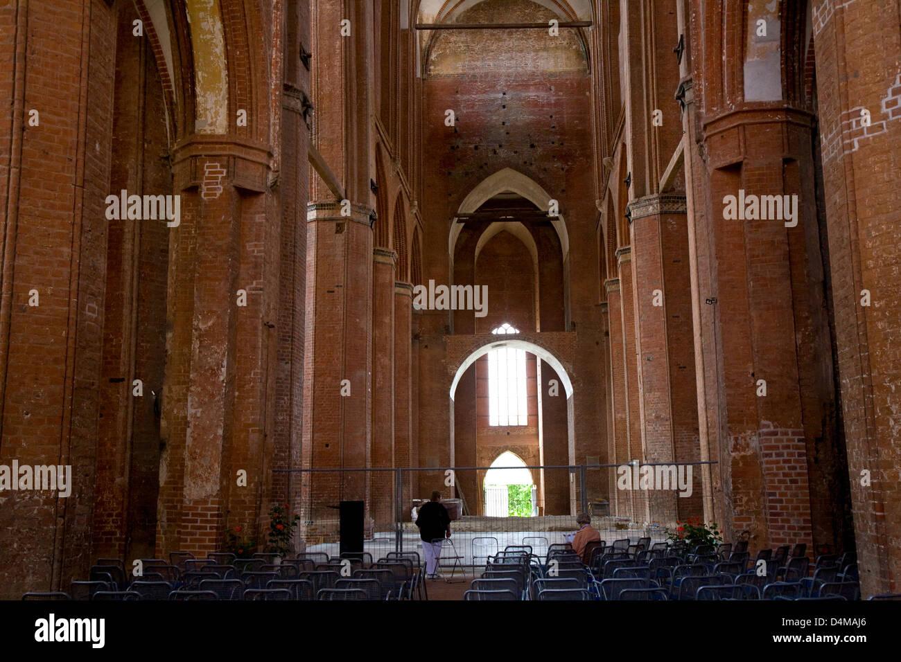 Wismar, Germany, side aisle of St. Nicholas Church - Stock Image