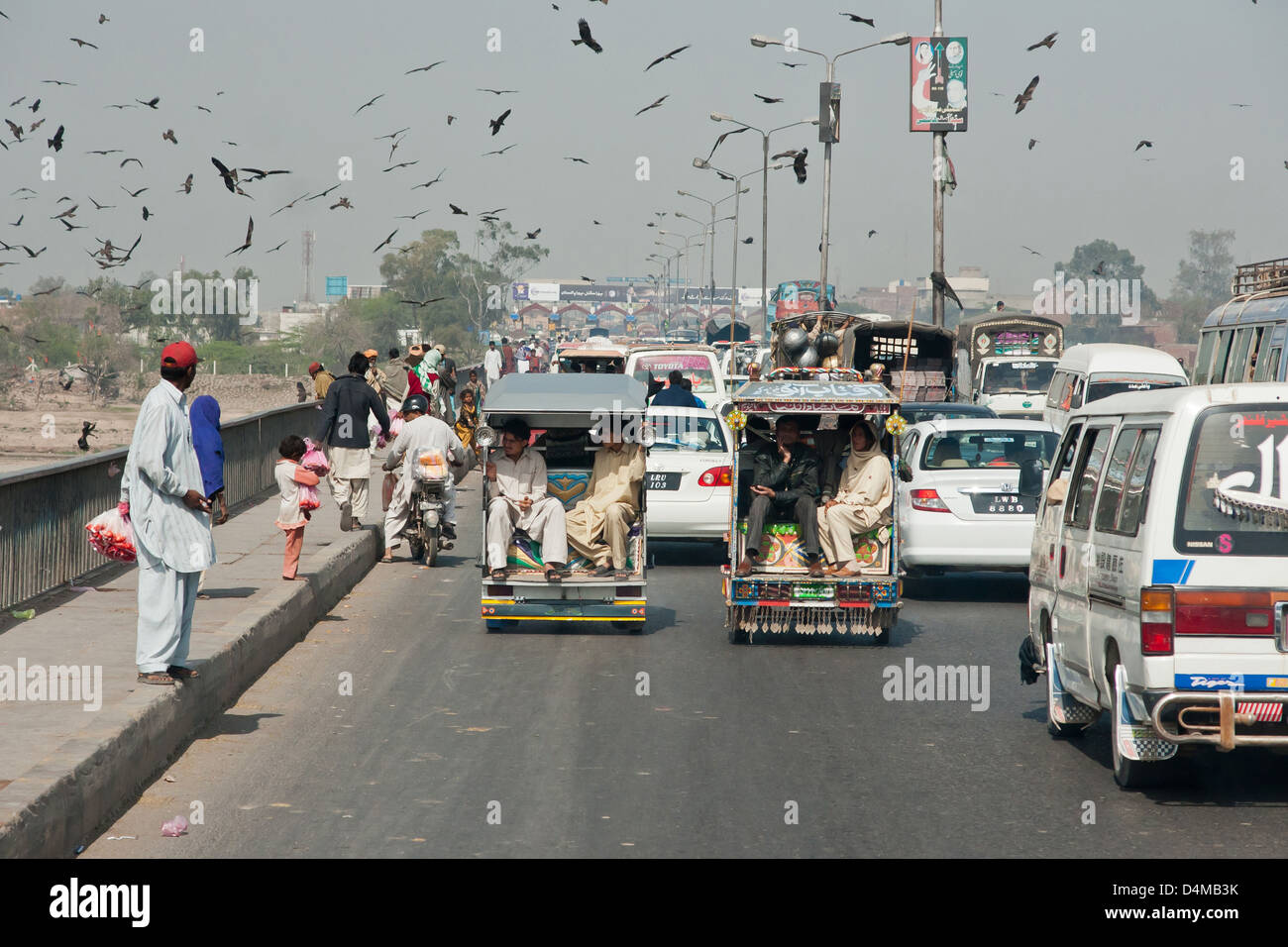 Lahore, Pakistan, arterial road towards the center of Lahore - Stock Image