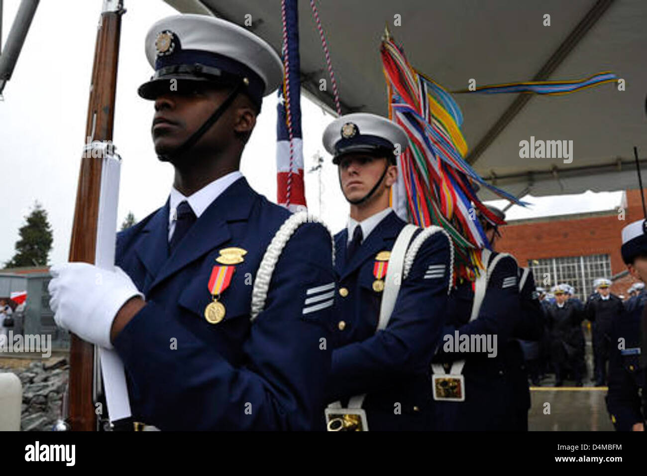 Stratton Commissioning Color Guard Stock Photo