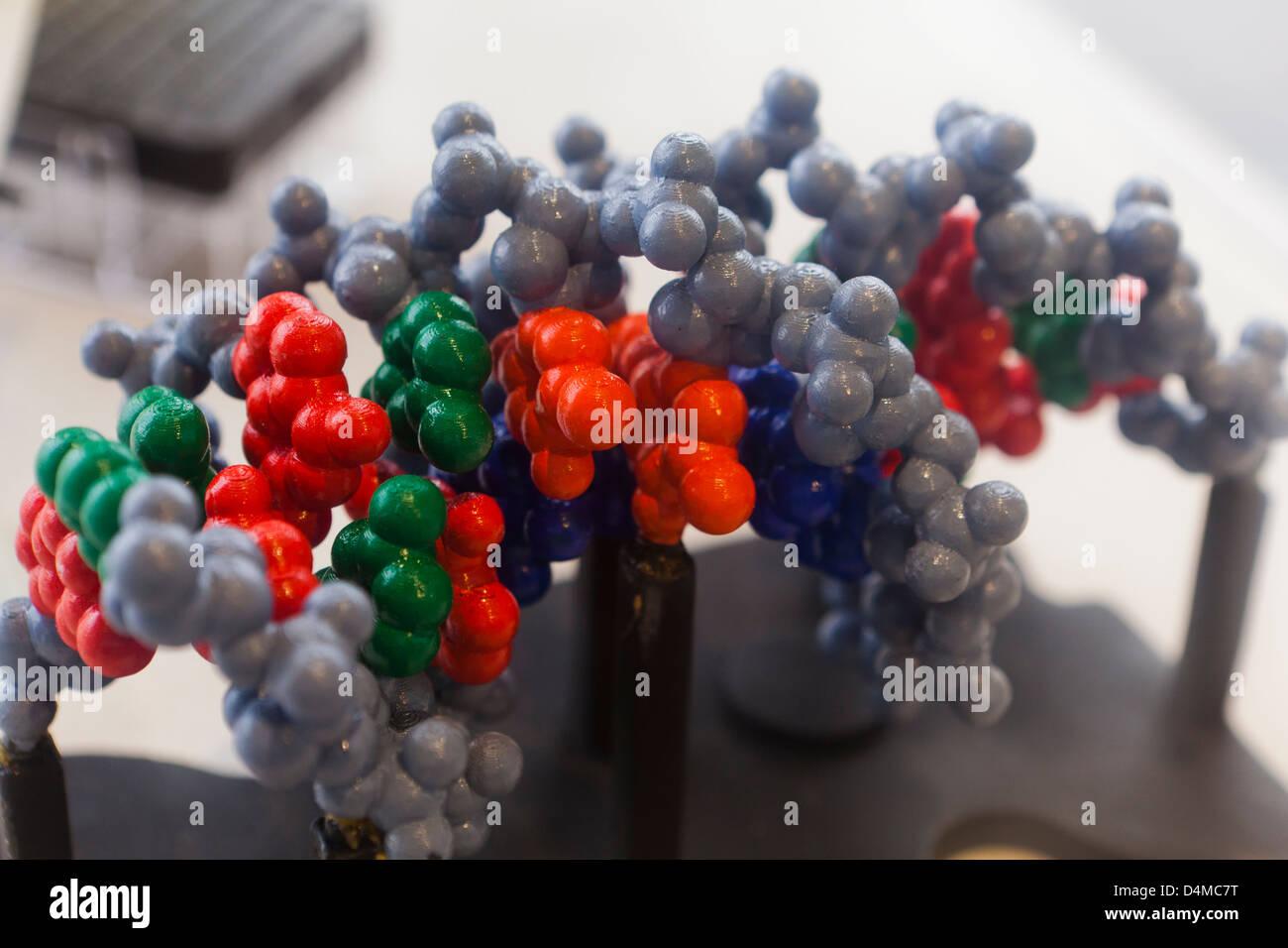 Deoxyribonucleic DNA model - Stock Image