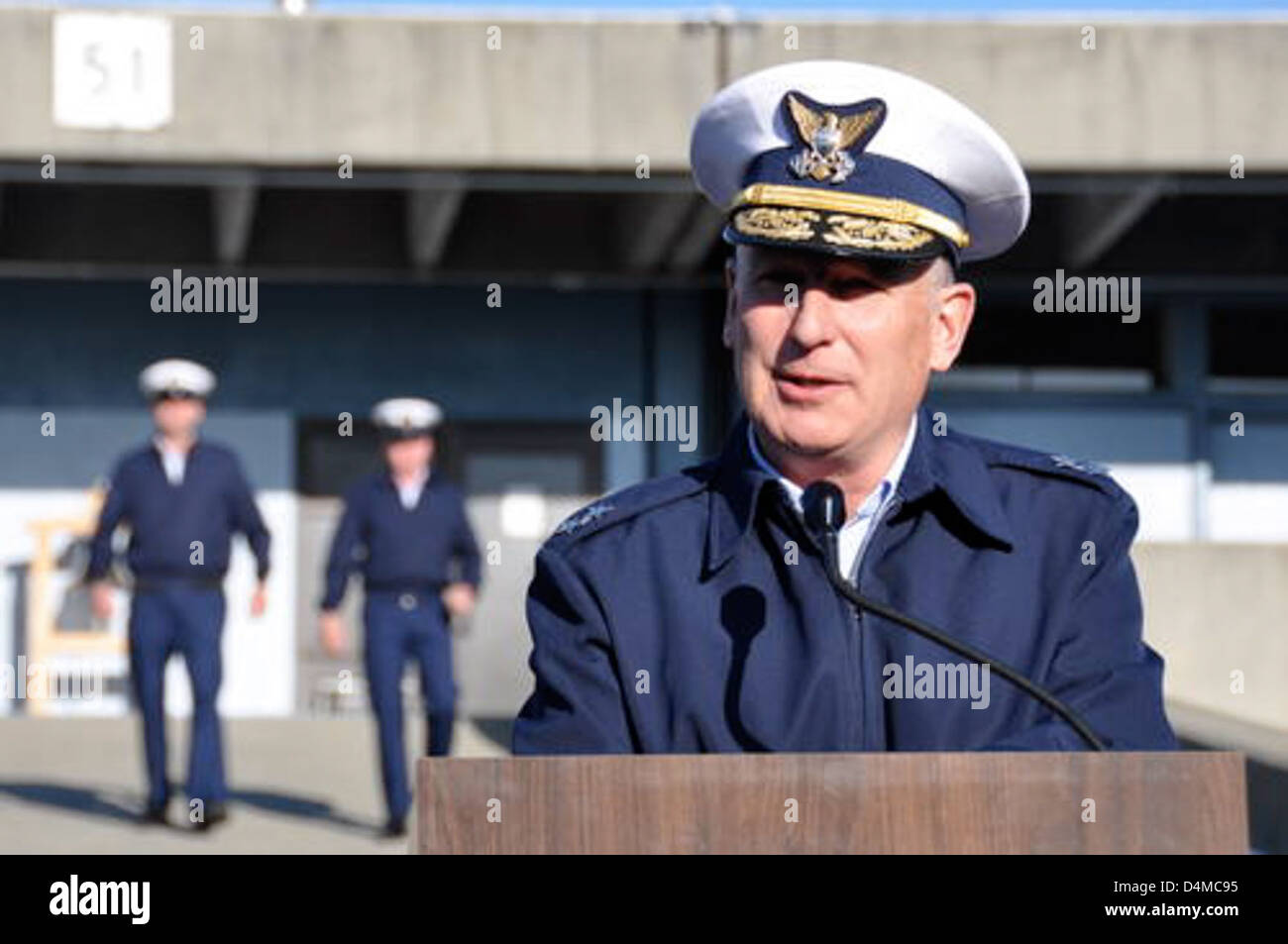 Rear Adm. Christopher Colvin - Stock Image