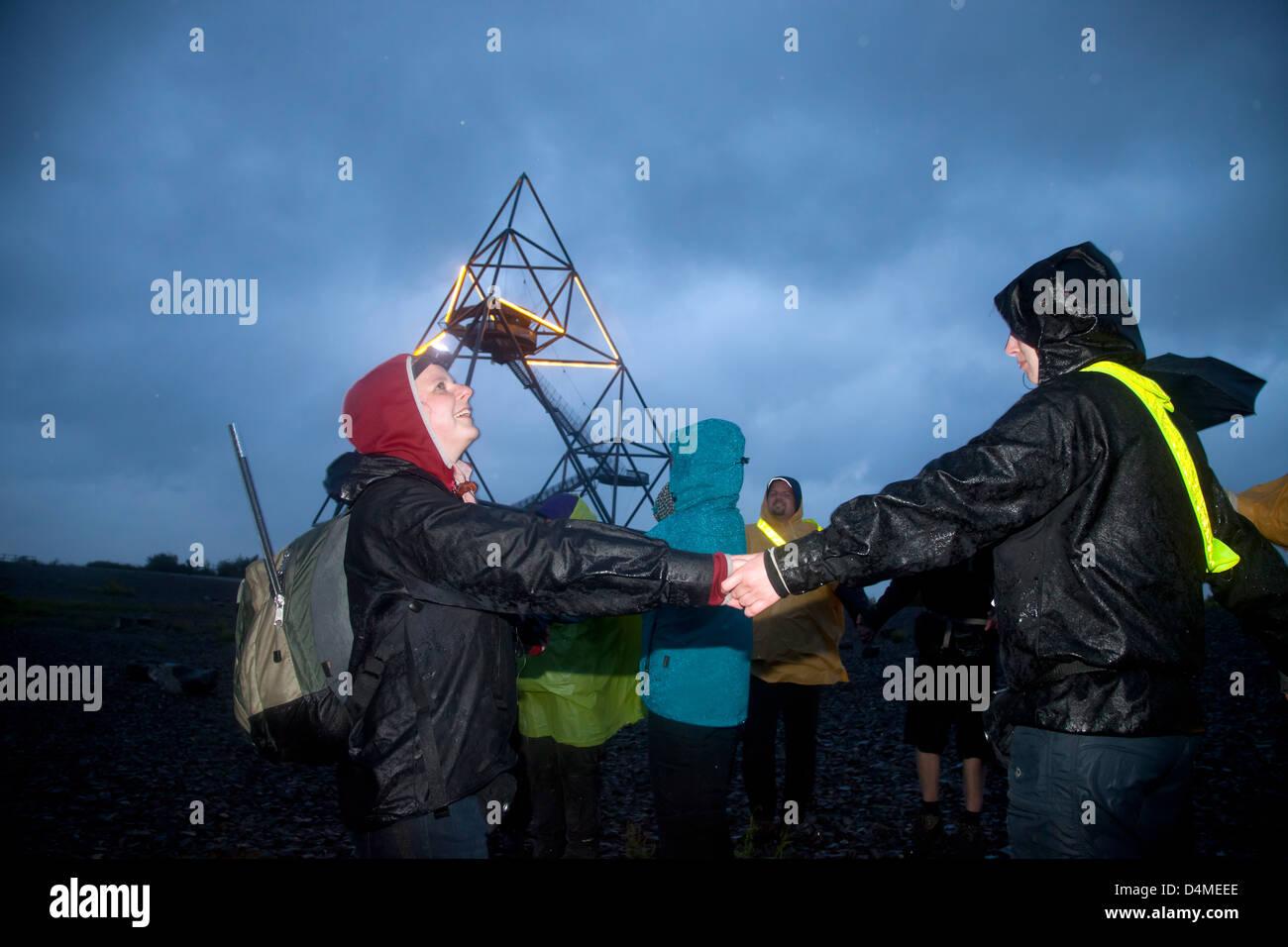 Bottrop, Germany, dump saga, night hike for Staedtebewohner - Stock Image