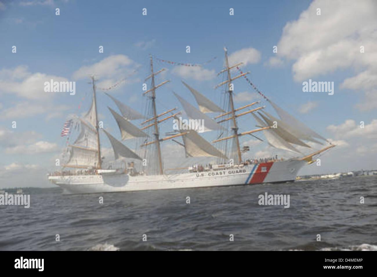 Coast Guard Cutter Eagle - Stock Image