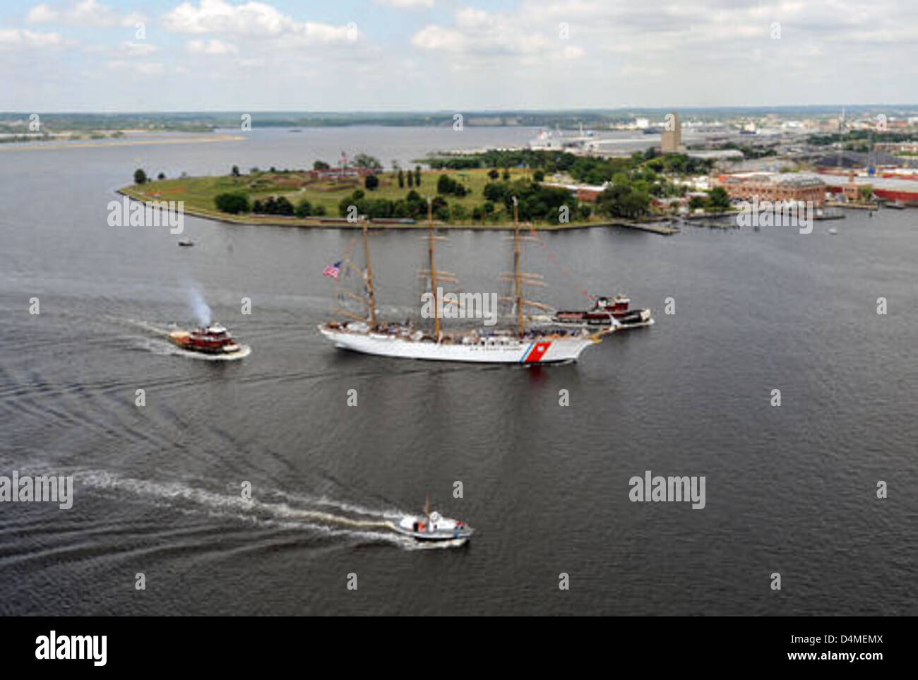 Coast Guard Cutter Eagle arrives in Baltimore for OpSail - Stock Image