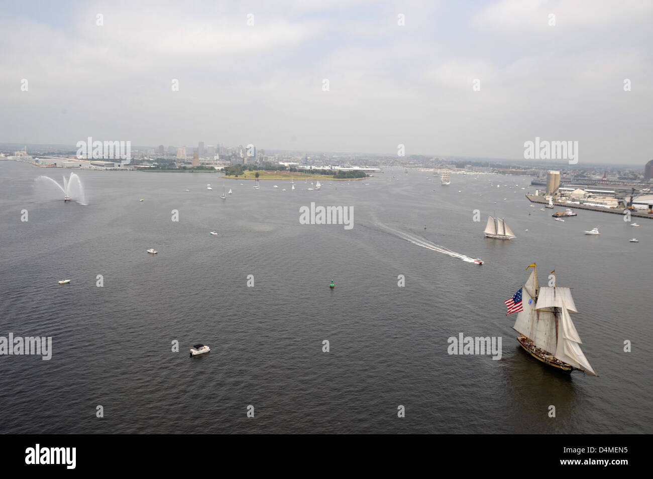 OpSail 2012 tall ship departure - Stock Image