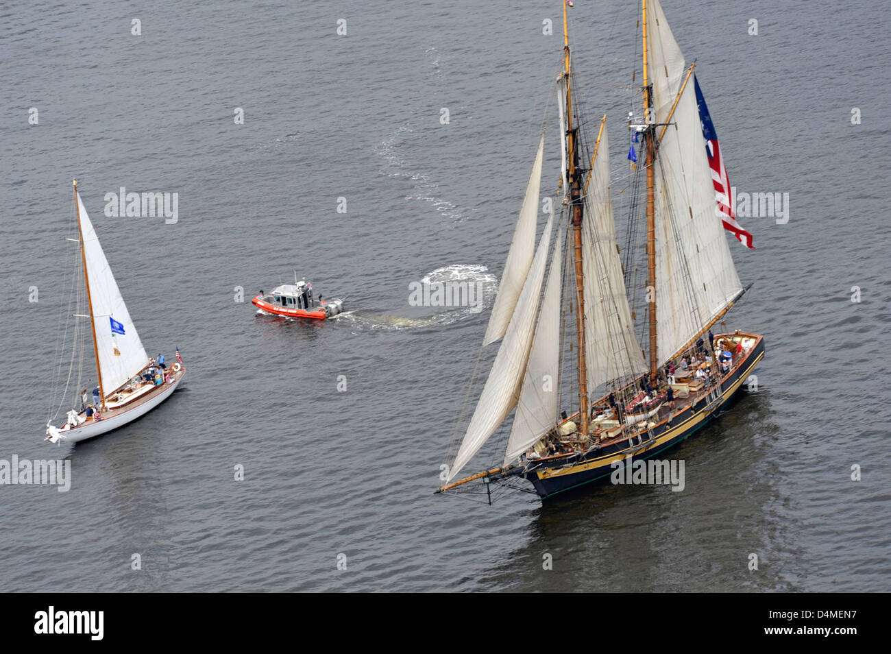 OpSail 2012 departure from Baltimore - Stock Image