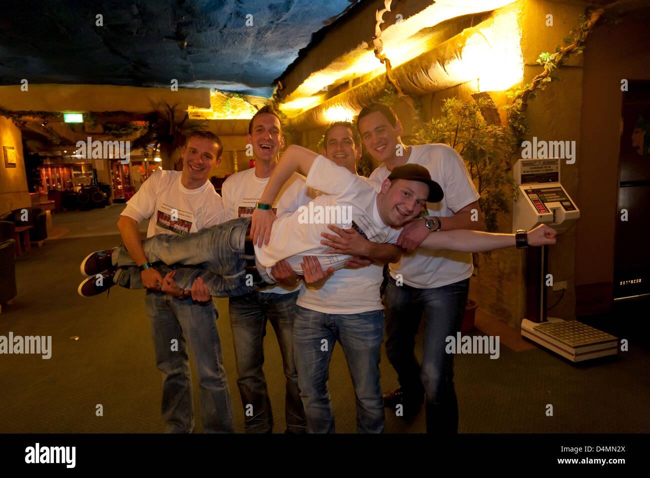 Kalkar, Germany, young people at a sports club in Kalkar - Stock Image