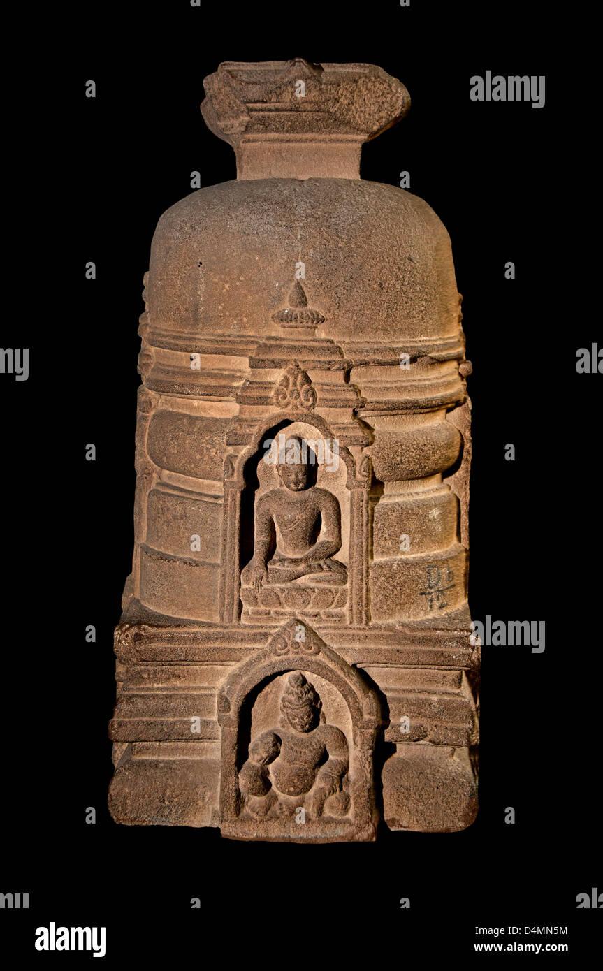 Votive Stupa Sarnath India Hindu Hinduism - Stock Image