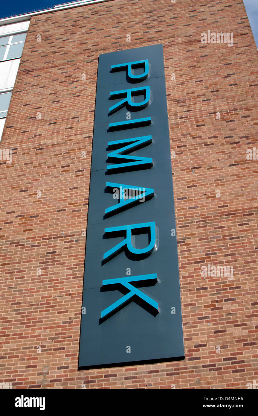 Primark store sign, Coventry, UK - Stock Image