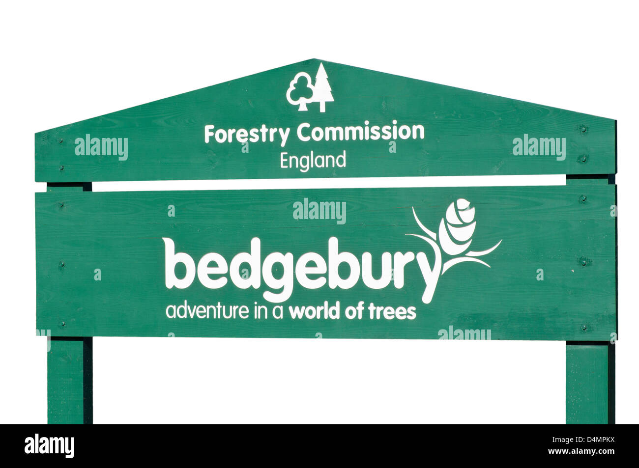 Bedgebury National Pinetum & Forest Sign Goudhurst Kent England - Stock Image