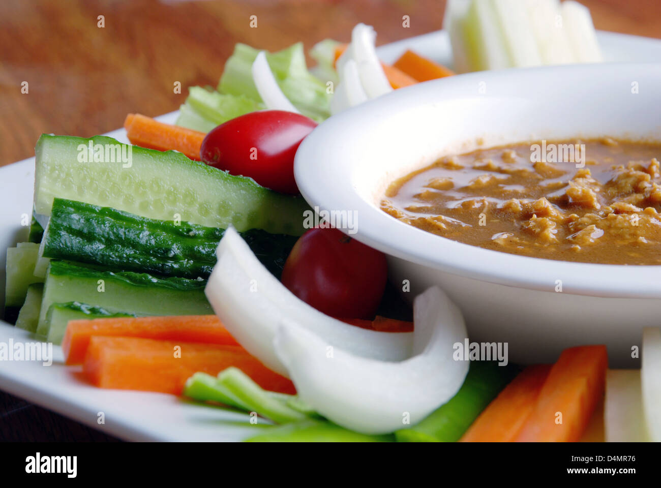 food in china-- vegetable receive favors sweet sauce - Stock Image