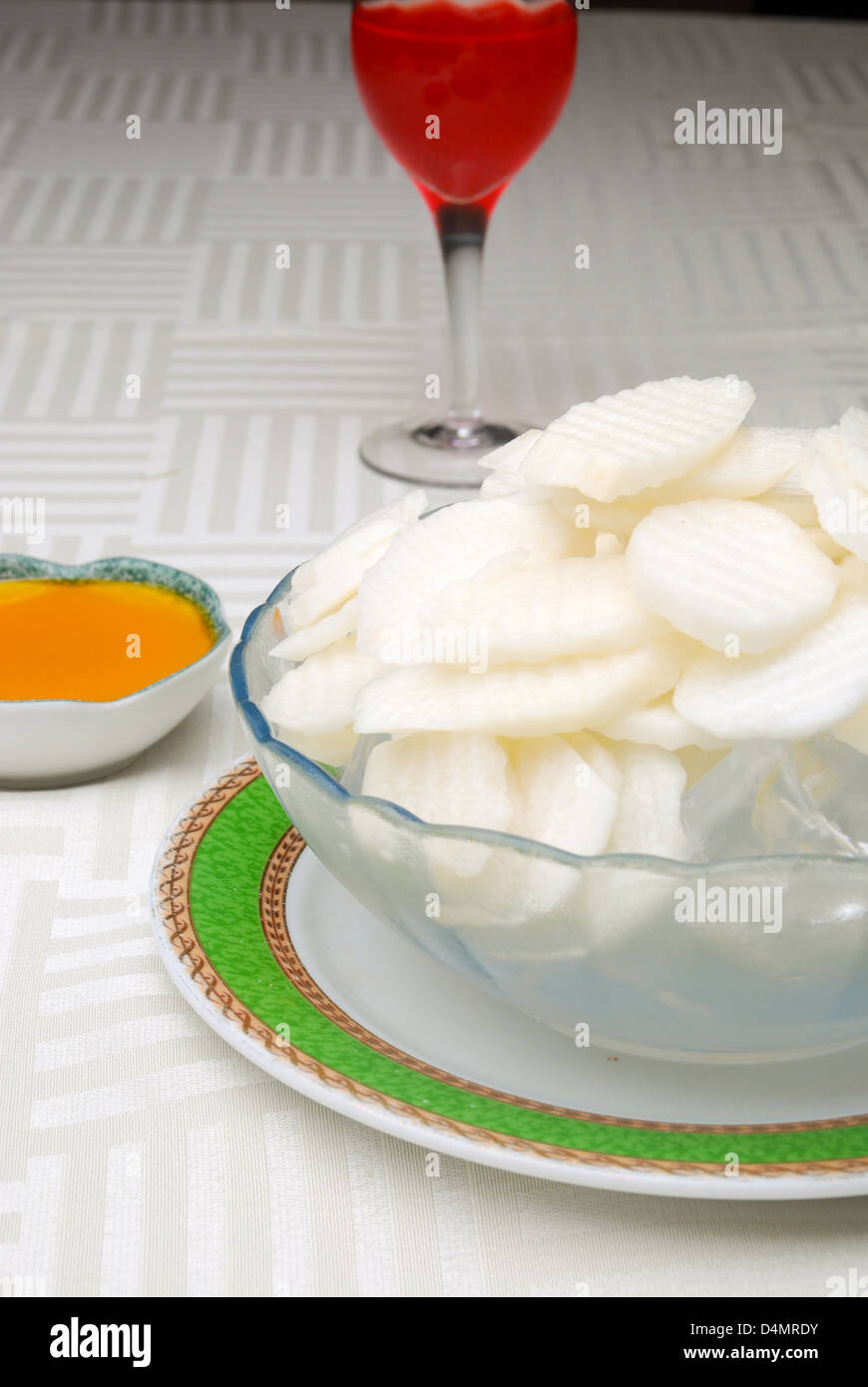 food in china-- yam receive favors sweet sauce - Stock Image