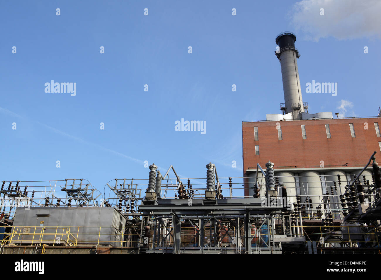 power plant in New York City - Stock Image