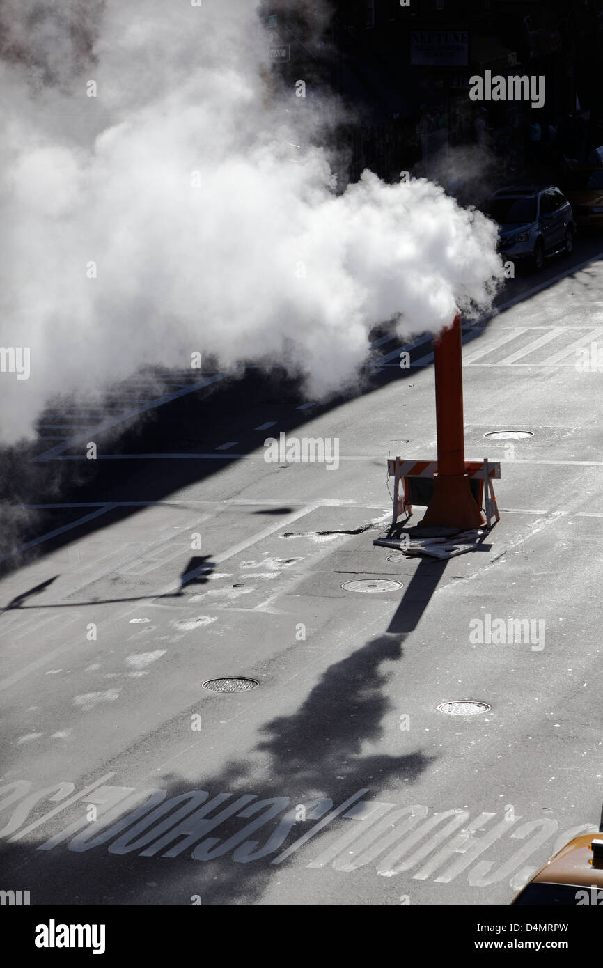 steam leak New York City - Stock Image