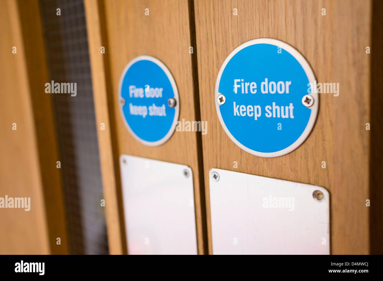 Fire Door Keep Shut Stock Photos & Fire Door Keep Shut Stock Images Fire Door Keep Shut Location on