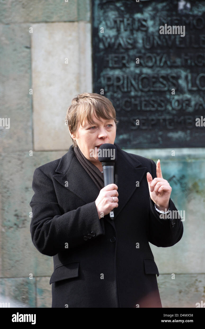 Liverpool, UK. Saturday 16th March 2013. Maria Eagle, Labour Party politician who is the Member of Parliament (MP) - Stock Image