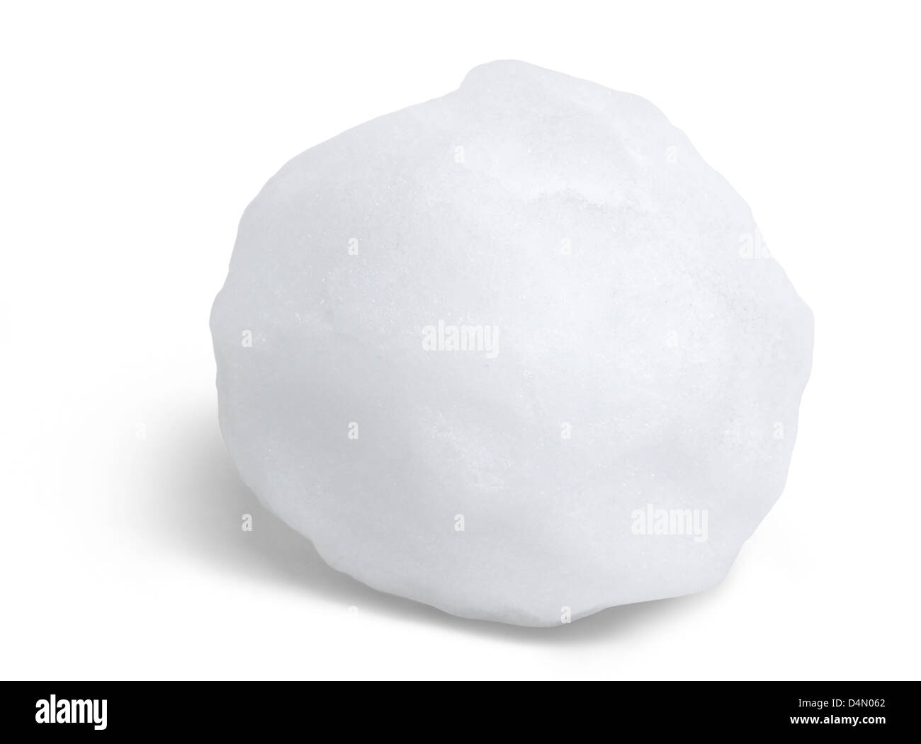 snowball in white back with shadow - Stock Image
