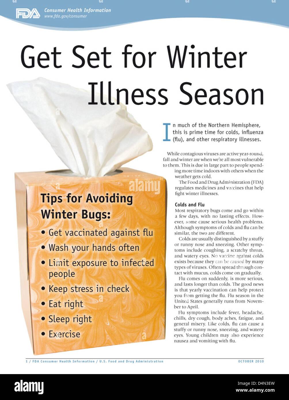 Get Set for Winter Illness Stock Photo