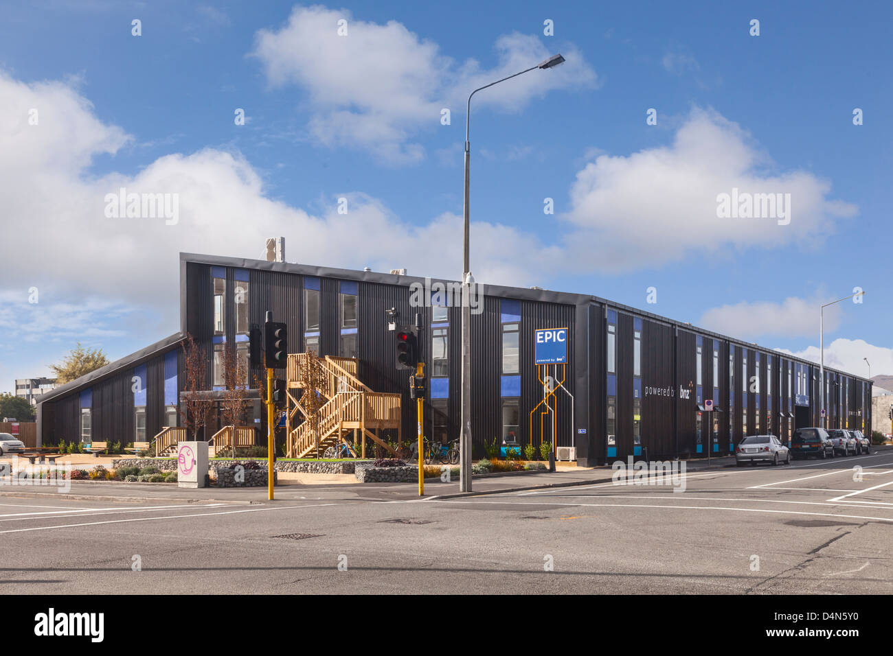 The EPIC Sanctuary building is an incubator for high-tech startup businesses in Christchurch, New Zealand. - Stock Image