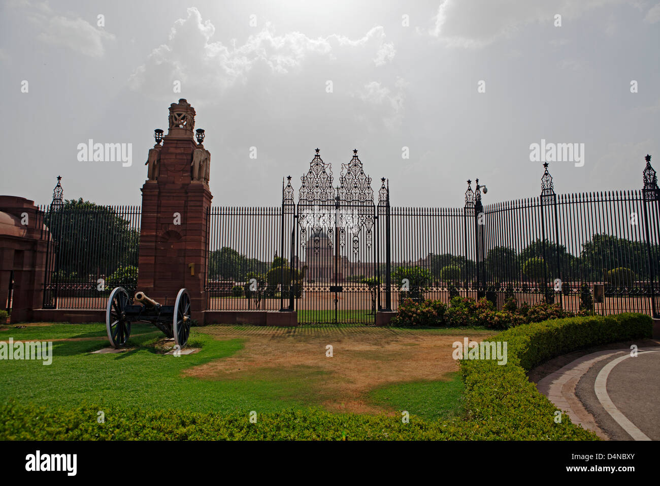 Rashtrapati Bhavan (Hindi for President House) is the official home of the President of India. New Delhi, India - Stock Image