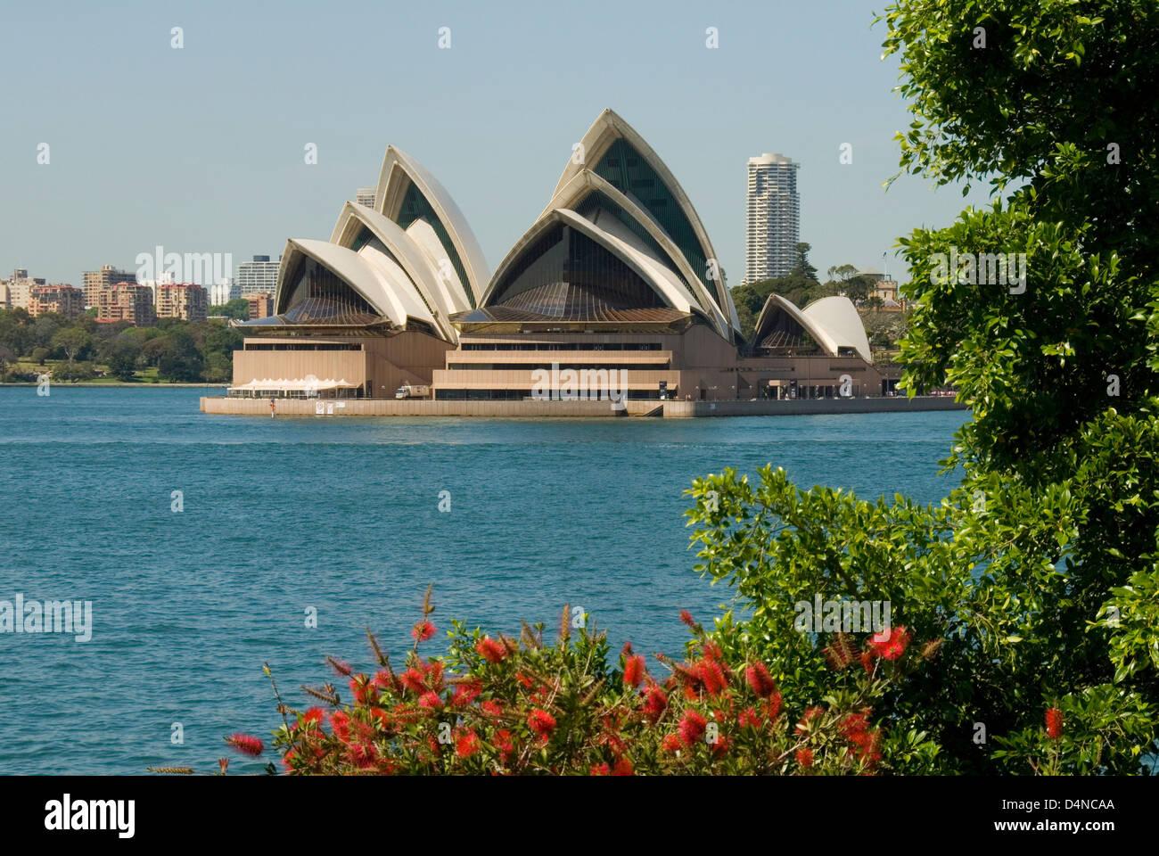 Sydney Opera House from Kirribilli, Sydney, New South Wales, Australia - Stock Image