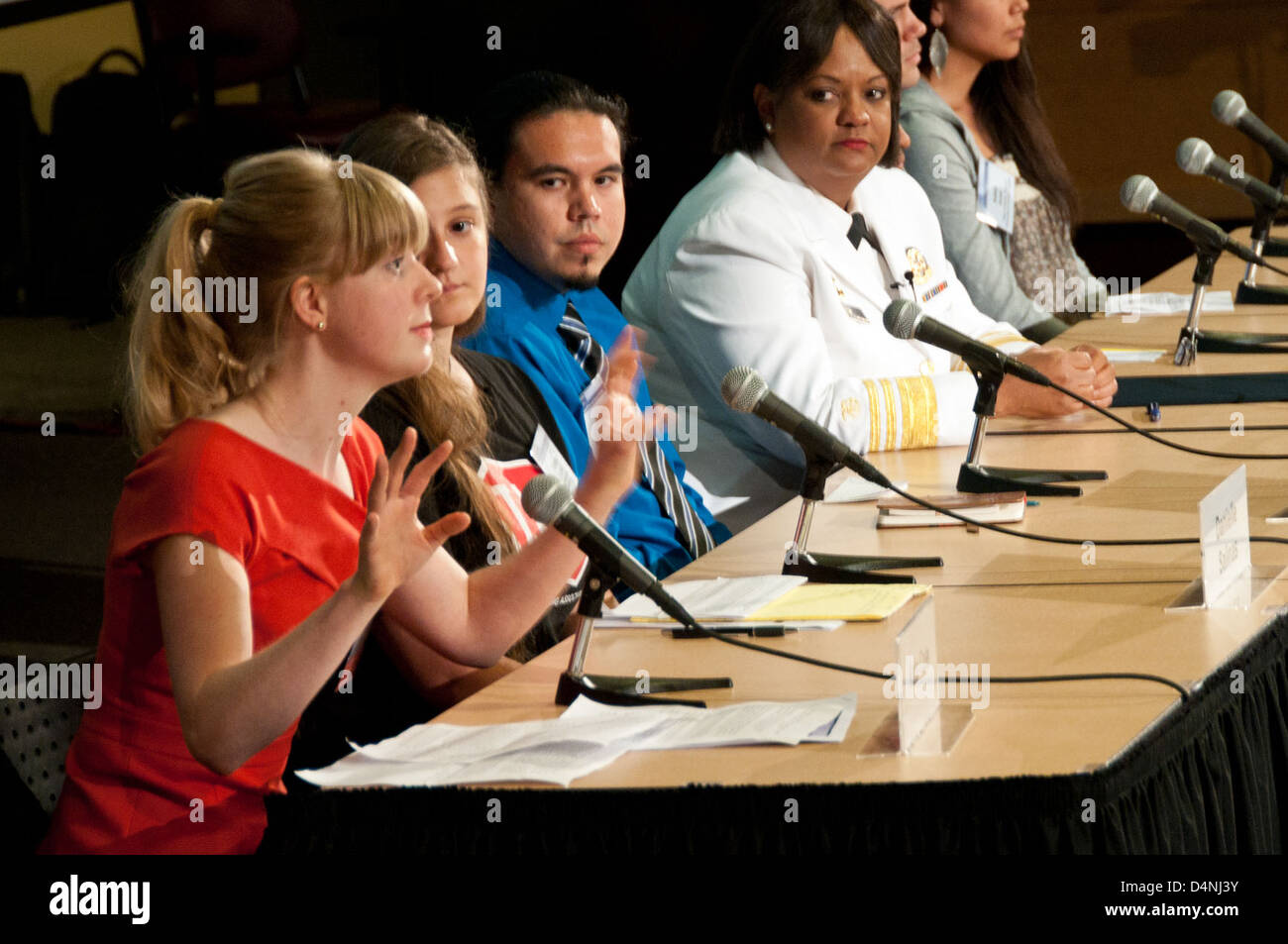 Youth Tobacco Town Hall Meeting_6751 - Stock Image