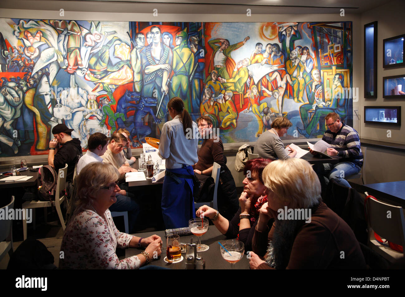 Restaurant DOMKLAUSE in DDR-Museum at the Spree, Berlin, Germany - Stock Image