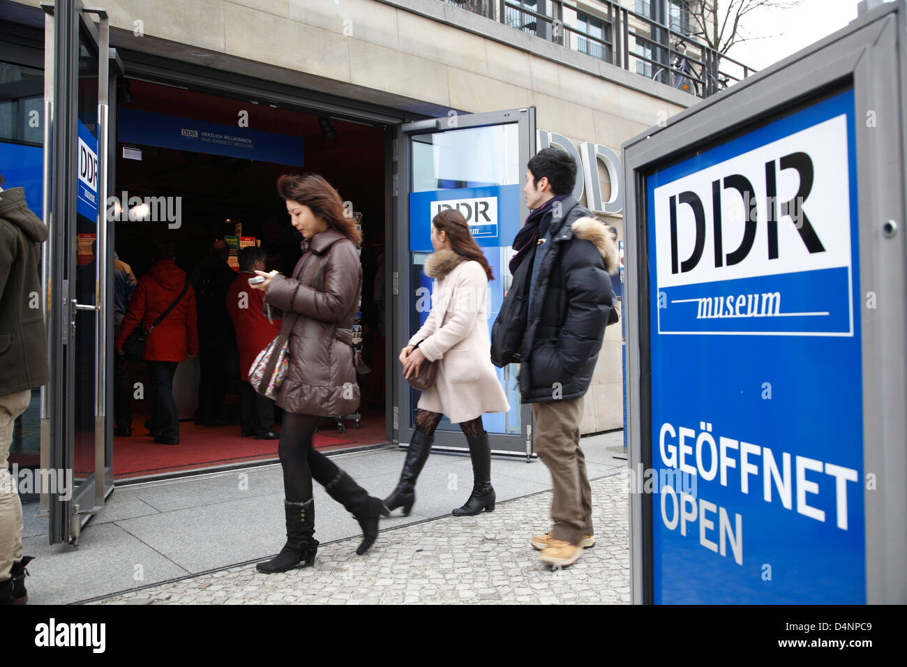Entrance of DDR-Museum at the Spree, Berlin, Germany - Stock Image