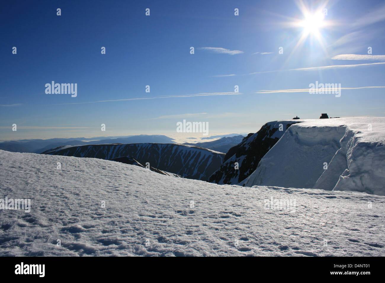 Taken on the summit of Ben Nevis during the National Three Peaks Challenge in May 2010 - Stock Image