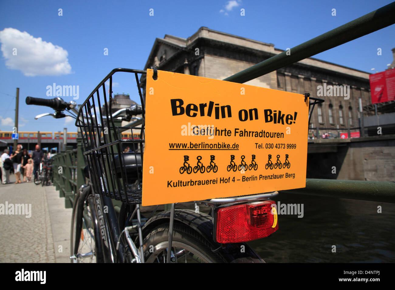 Germany, Berlin, bike tour - Stock Image