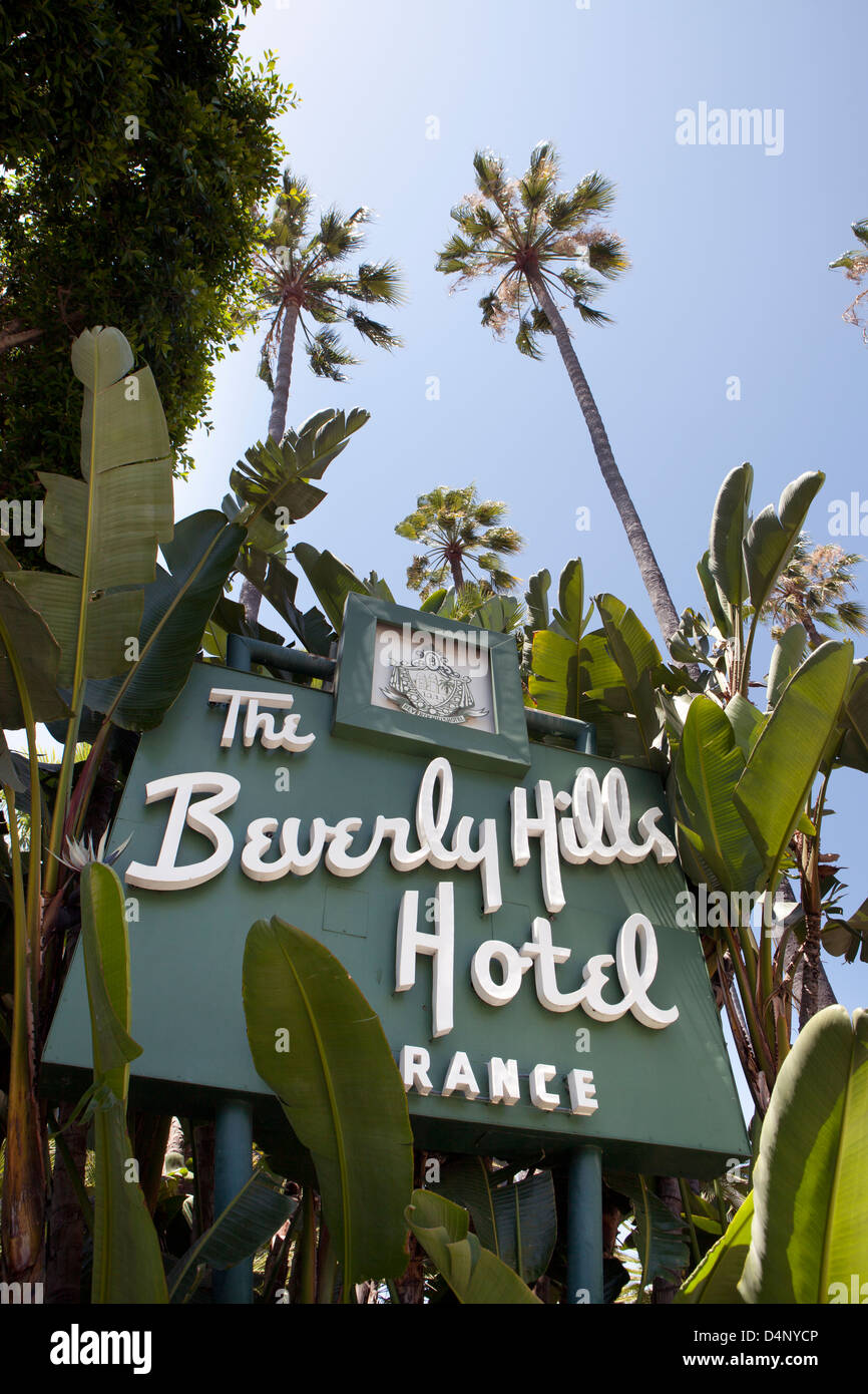 The Beverly Hills Hotel Entrance Sign, Los Angeles