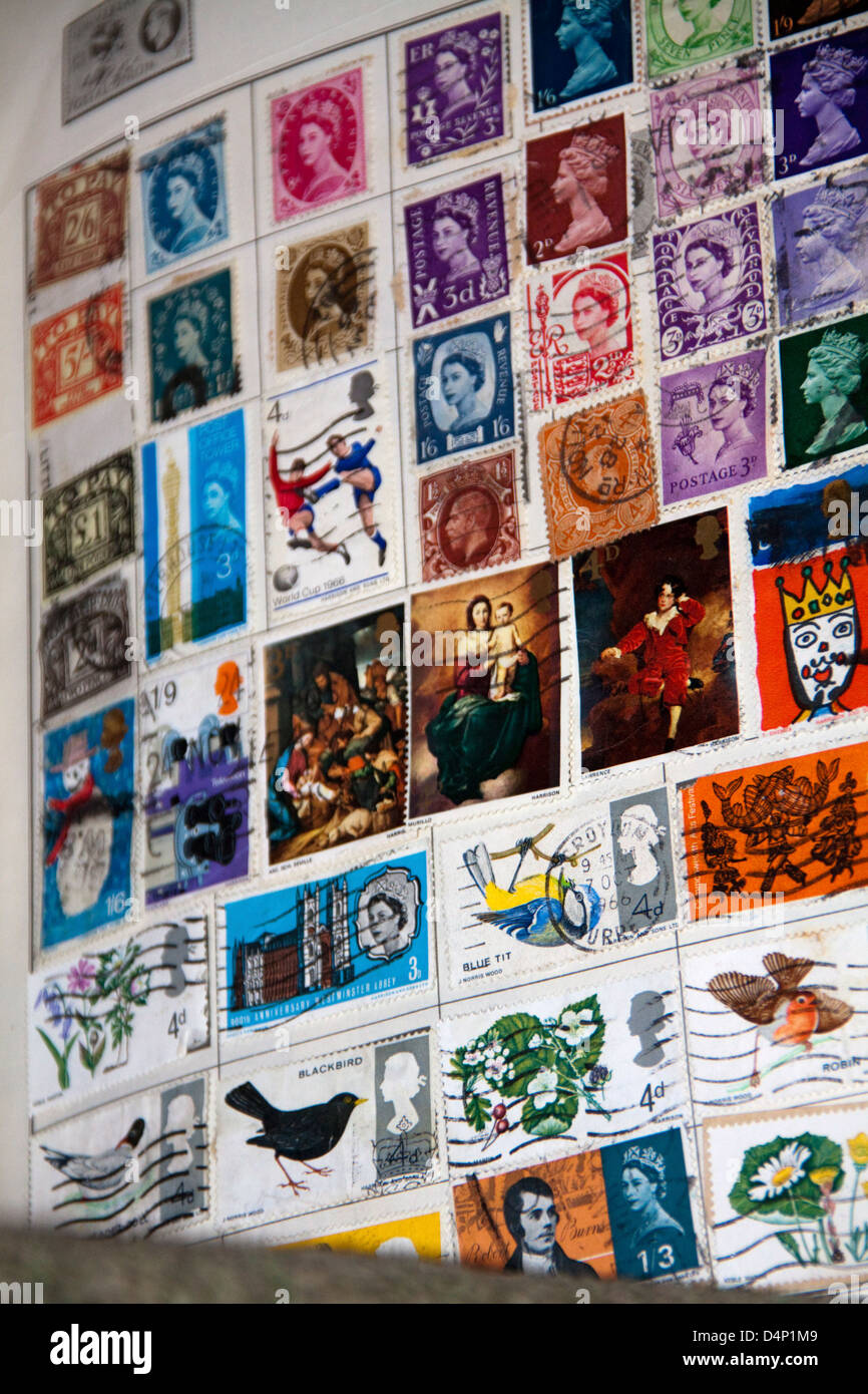 Stamp Album - Stock Image