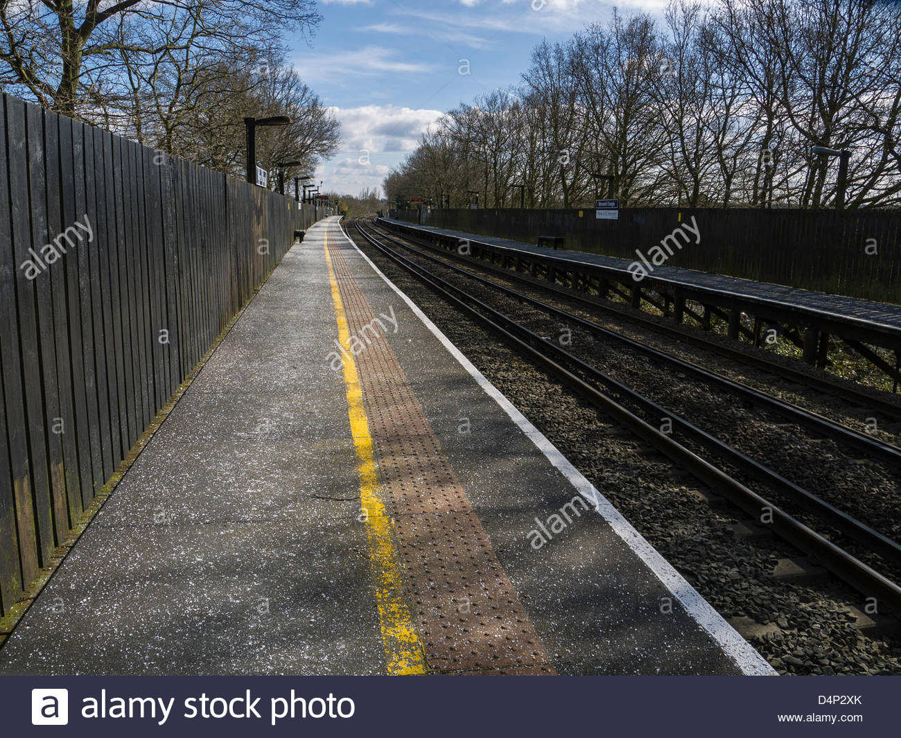 Deserted Railway Station England UK - Stock Image