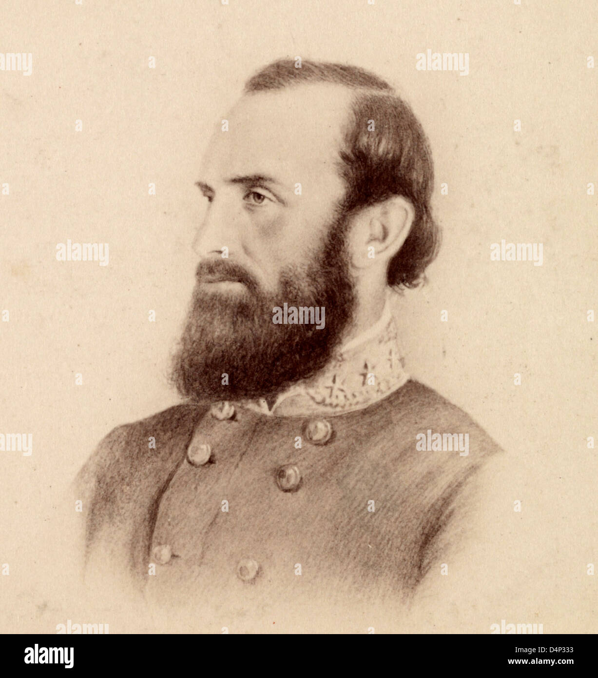 Thomas Jonathan 'Stonewall' Jackson Confederate general during the American Civil War - Stock Image